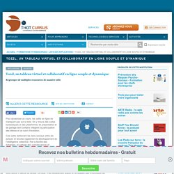 Tozzl, un tableau virtuel et collaboratif en ligne souple et dynamique