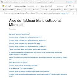 Tableau blanc collaboratif Microsoft - Aide