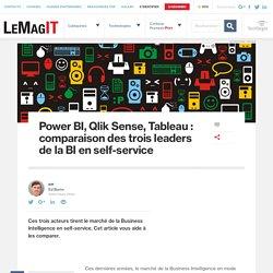 Power BI, Qlik Sense, Tableau : comparaison des trois leaders de la BI en self-service