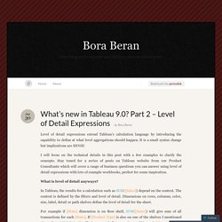 What's new in Tableau 9.0? Part 2 – Level of Detail Expressions « Bora Beran