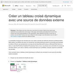 Créer un tableau croisé dynamique avec une source de données externe