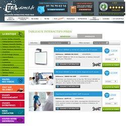 Tableau Blanc Interactif (TBI) fixe sur tbi-direct