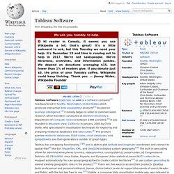 Tableau Software - Wikipedia