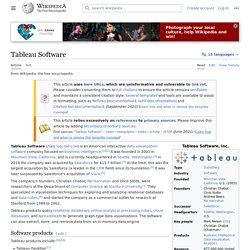 Tableau Software - Wikipedia
