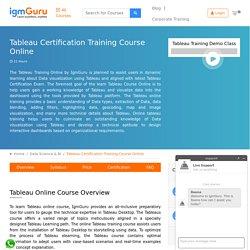 Tableau Certification Course