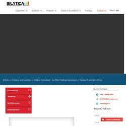 Tableau Consultants - Tableau Training