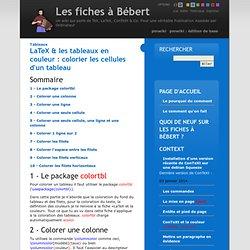 Les fiches à Bébert Tableaux/LaTeX & les tableaux en couleur : colorier les cellules d'un tableau