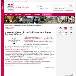 Analyse de tableaux du musée des Beaux-arts de Lyon (en haute définition)-Histoire des arts-Éduscol