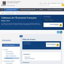 Villes de France − Tableaux de l'Économie Française
