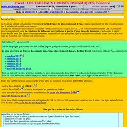 énoncé TCD - analyse par tableaux croisés - Exercices Excel avec vidéos gratuites