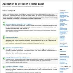 Tableaux Excel gratuits - Application de gestion et Modèles Excel