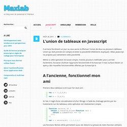 L'union de tableaux en Javascript Maxlab