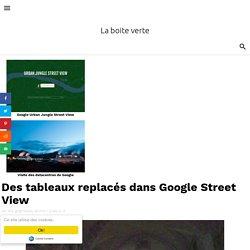 Des tableaux replacés dans Google Street View