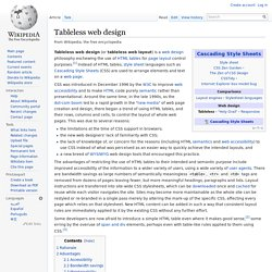 Tableless web design