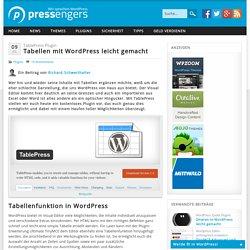 TablePress - Tabellen mit WordPress leicht gemacht