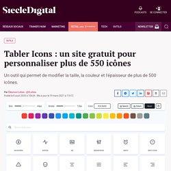 Tabler Icons : un site gratuit pour personnaliser plus de 550 icônes