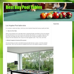 Best Buy Pool Tables: Los Angeles Pool table store