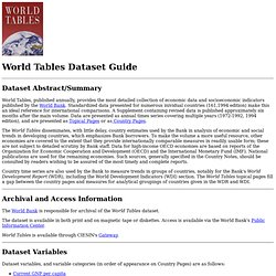 World Tables - Dataset Description Guide