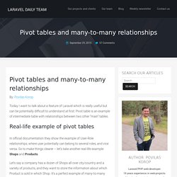 Pivot tables and many-to-many relationships - Laravel Daily