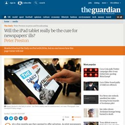 Will the iPad tablet really be the cure for newspapers' ills? | Media | The Observer
