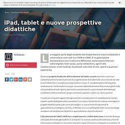 iPad, tablet e nuove prospettive didattiche