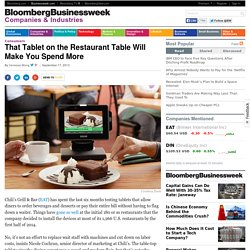 That Tablet on the Restaurant Table Will Make You Spend More