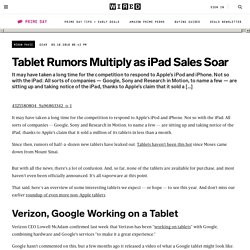 Tablet Rumors Multiply as iPad Sales Soar | Gadget Lab | Wired.c
