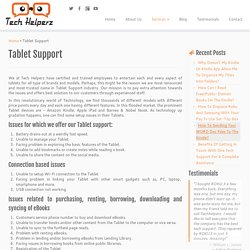 Tablet Support And Help Call (Toll Free) 1855-856-2653