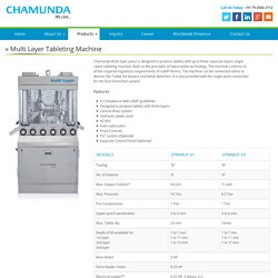 Triple Layer Rotary Tablet Presses
