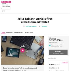 Jolla Tablet - worlds first crowdsourced tablet