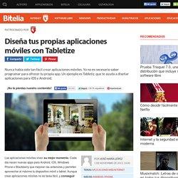 Tabletize te ayuda a crear aplicaciones móviles y revistas digitales