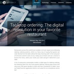 Tabletop ordering: The digital revolution in your favorite restaurant