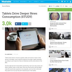 Tablets Drive Deeper News Consumption [STUDY]