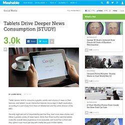 Tablets Drive Deeper News Consumption [STUDY]