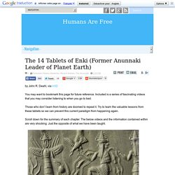 The 14 Tablets of Enki (Former Anunnaki Leader of Planet Earth)