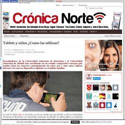 Tablets y niños ¿Como las utilizan? ·