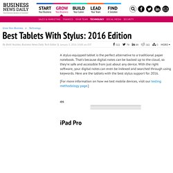 Best Tablets With Stylus (Windows and Android)
