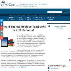 Tablets vs. Textbooks - ProCon.org