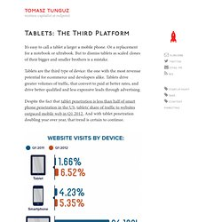 Tablets: the third platform