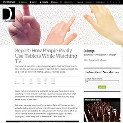 Report: How People Really Use Tablets While Watching TV