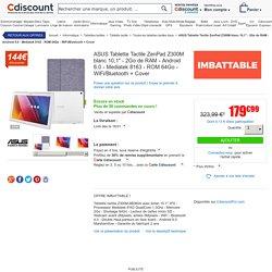 """ASUS Tablette Tactile ZenPad Z300M blanc 10,1"""" - 2Go de RAM - Android 6.0 - Mediatek 8163 - ROM 64Go - WiFi/Bluetooth + Cover - Prix pas cher - Soldes * Cdiscount"""