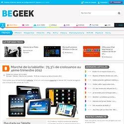 Marché de la tablette : 75,3% de croissance au 4ème trimestre 2012