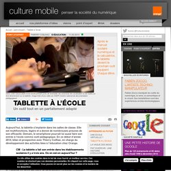 Tablette à l'école - point d'expert