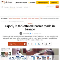 Sqool, la tablette éducative made in France