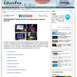 Educavox - Tablette tactile et enseignement