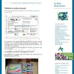 Tablette et cahier journal