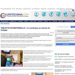 TABLETTE EN MATERNELLE - Le numérique au service du langage