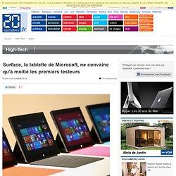 Surface, la tablette de Microsoft, ne convainc qu'à moitié les premiers testeurs