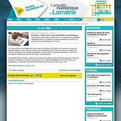 France : BIC sort une tablette numérique