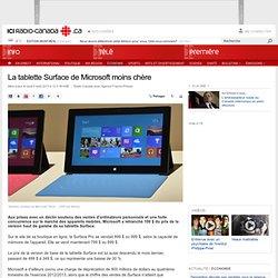 La tablette Surface de Microsoft moins chère